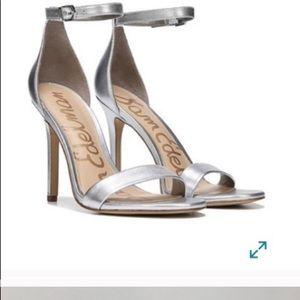 Silver Strap sandals heels